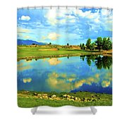 Sandia Golf Club Hole #14 Shower Curtain