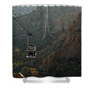 Sandia Peak Cable Car Shower Curtain