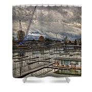 Sandpoint Marina 2 Shower Curtain