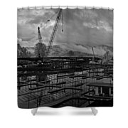 Sandpoint Marina And Byway Shower Curtain