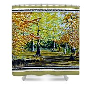Sandringham Woods. Uk. Shower Curtain