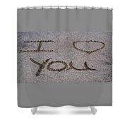 Sandscript - I Love You Shower Curtain