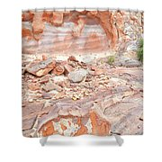 Sandstone Colors In Wash 3 - Valley Of Fire Shower Curtain