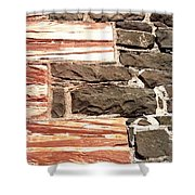 Sandstone Corners  Shower Curtain