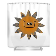 Sandstone Daisy Shower Curtain