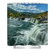 Sandstone Falls New River  Shower Curtain