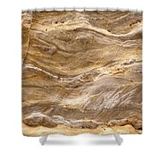 Sandstone Formation Number 3 At Starved Rock State Shower Curtain