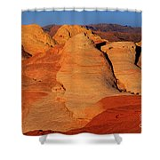 Sandstone Formations In Valley Of Fire State Park Nevada Shower Curtain by Dave Welling