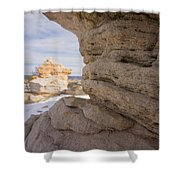 Sandstone Layers Shower Curtain