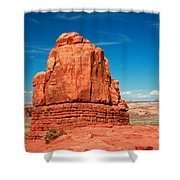 Sandstone Monolith, Courthouse Towers, Arches National Park Shower Curtain