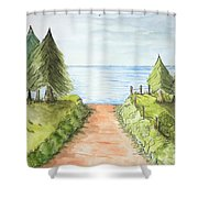Sandy Beach Awaits Shower Curtain