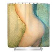 Sandy Dune Nude - The Torso Shower Curtain