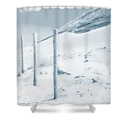 Sandy Dunes. Series Ethereal Blue Shower Curtain
