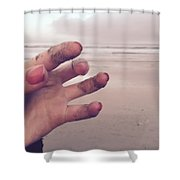Sandy Fingers Shower Curtain