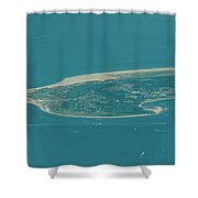 Sandy Hook New Jersey Aerial Photo Shower Curtain