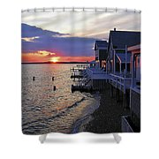 Sandy Neck Sunset At The Cottages Shower Curtain