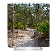 Sandy Path In Hunting Island South Carolina Shower Curtain