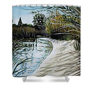 Sandy Reeds Shower Curtain