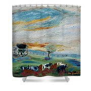 Sandy Ridge Cattle Shower Curtain