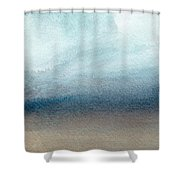 Sandy Shore- Art By Linda Woods Shower Curtain