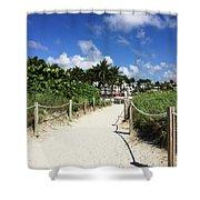 Sandy Trail Miami Florida Shower Curtain