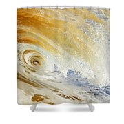 Sandy Wave Crashing Shower Curtain