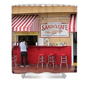 Sandy's Cafe Key West Shower Curtain