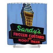 Sandys Frozen Custard - Austin Shower Curtain