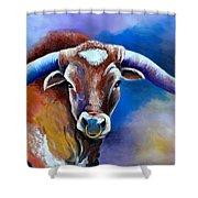 Sandy's Longhorn Bull Shower Curtain