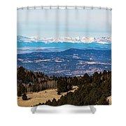 Sangre De Cristo Mountain Valley Shower Curtain