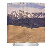 Sangre De Cristo Mountains And The Great Sand Dunes Shower Curtain