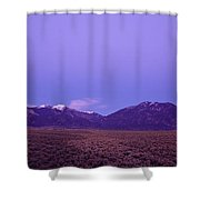 Sangre De Cristo Mountains At Sunset Shower Curtain