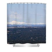 Sangre De Cristo Mountains From Bald Mountain Colorado Shower Curtain