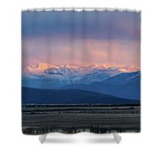 Sangres Glowing Shower Curtain