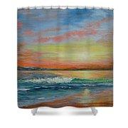 Sangria Beach Shower Curtain