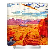 Sangry Valley Shower Curtain