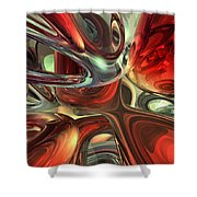 Sanguine Abstract Shower Curtain