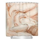 Sanguine Nude Shower Curtain