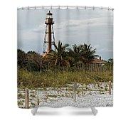 Sanibel Island Lighthouse Shower Curtain
