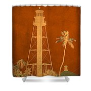 Sanibel Island Lighthouse Shower Curtain