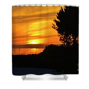 Sanibel Island Sunset Two Shower Curtain