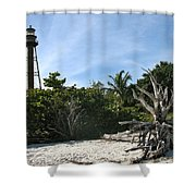 Sanibel Light And Driftwood Shower Curtain