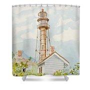 Sanibel Lighthouse 2 Shower Curtain