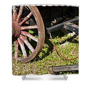 Sanibel Village Wagon Wheels Shower Curtain