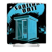 Sanitary Unit Fap Poster Shower Curtain