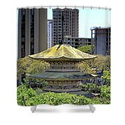 Sanju Pagoda 2 Shower Curtain