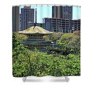 Sanju Pagoda Shower Curtain
