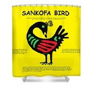 Sankofa Bird Of Knowledge Shower Curtain