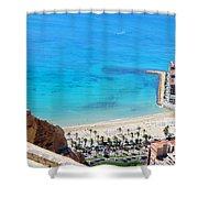 Santa Barbara Castle Shower Curtain