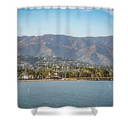 Santa Barbara Coastline From The Water Shower Curtain